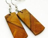 SALE Red Creek Jasper Earrings - Rusty Brown Earrings - Gemstone Earrings - Sterling Silver - Womens Jewelry