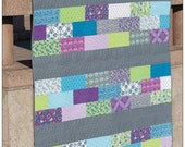"""Sweet & Simple Brand, Row of Bricks Pattern, Quilt size 57.5"""" x 75.5"""", Quick, Fun, Easy Pattern, Martingale and Co., Pamphlet  Pattern"""