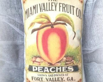 Vintage Peach Decor | Door Knob Hanger | Rustic Pillow | Door Knob Sign |  Tuscan