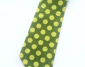 Little Guy Holiday NECKTIE Tie - Green Green Polka Dot - (2T-4T) - Boy - (Ready to Ship) St Patrick's Day
