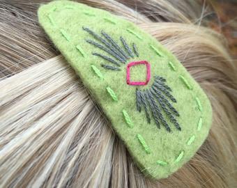 Tribal Felt Hair Clip