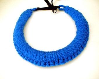 Chunky collar crochet collar modern necklace thick collar necklace, edgy necklace big necklace, Big bold chunky necklace Collar necklace