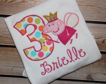 Pig Birthday shirt ~  Personalized Princess Fairy Pig
