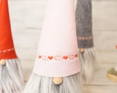Scandinavian gnome, Nordic gnome, valentines day decor, nordic nisse, swedish tomten, swedish santa, tonttu, scandinavian decor,