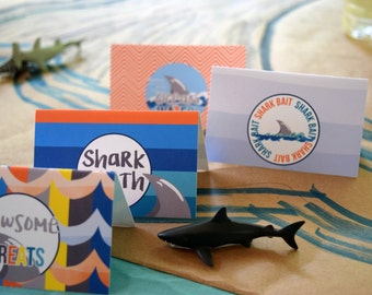 Shark Birthday Food Tents Printables