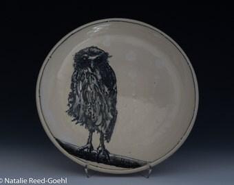 Plate Wet Owl Dinner Plate