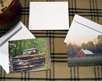 "Foggy Morning Barn - Note Cards - 5.5"" x 4"""