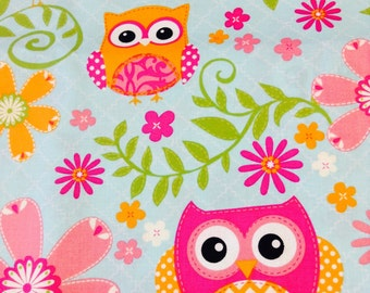 Custom Boutique (Owl and Bird) Shopping Cart Cover, Restaurant High Chair Cover, Park Swing Cover, Mall Stroller Cover, Grocery Cart Cover