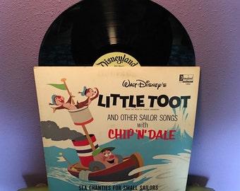 FINAL SALE Vinyl Record Album Disney's Little Toot & Chip N Dale Lp 1969 Children's Classics