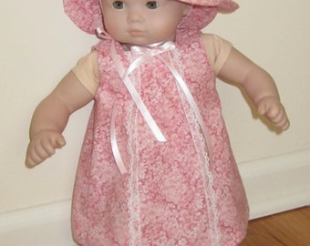 15 Inch Baby Doll, Bitty Baby Sweet Spring Dress and hat