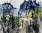 WATERCOLOR ORIGINAL Painting, Original Watercolor Painting- Original, landscape, Pinetreeart, WATERCOLOR, landscape original, painting