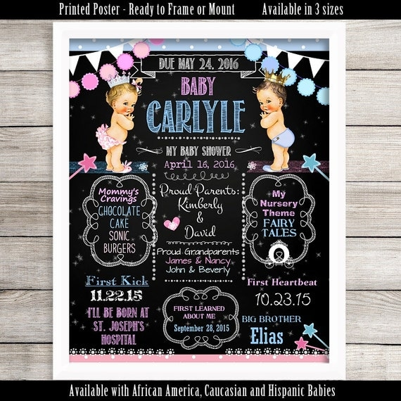 to Frame Personalized Baby Shower Poster, 11u0026quot; x 14u0026quot;, 16u0026quot; x 20u0026quot;, 18u0026quot; x ...
