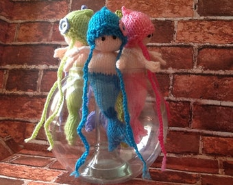 Hand knitted Baby Mermaids. 1066 collection.