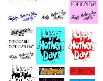 Mothers Day AA-Digital Immediate Download-Gitf Card-Gift Tag-Banner-Background-Words.