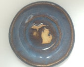 Michigan Dipping Saucer for Olive Oil, Gray-Blue