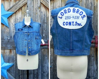 1990's, Levis Vest with large back patch