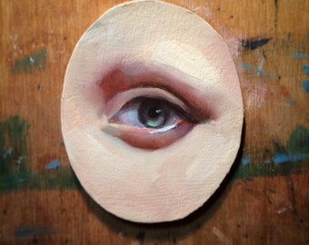Customized Eye Portrait In Oil