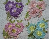 Venise Lace Flower Hand Dyed Embellishment Appliques for Crazy Quilt