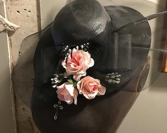 Vintage Black Wide Brim Hat