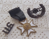 Vintage Military Pins and Badge ROTC, US, & Fraternal