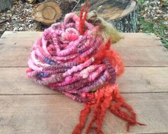Rapunzel's Dreads coiled handspun yarn