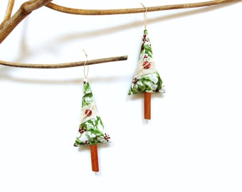Sachet cinnamon stick tree, Christmas holiday decor, stocking stuffer, teacher gift under 10, scented balsam pine tree, xmas decoration