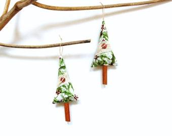 Cinnamon stick tree, Christmas ornament, scented ornament, Christmas balsam, scented cinnamon trees, balsam fir pine tree, cinnamon chips