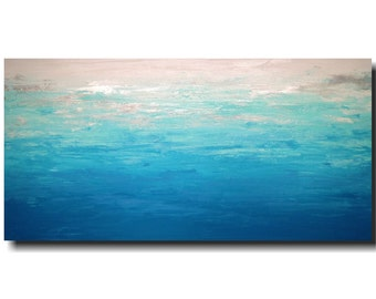 Original Large Abstract painting - 24 X 48 -by Artist JMJartstudio- Standing Above -Wall art - painting-Oil painting -