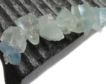Rough Aquamarine Nuggets, Raw Aquamarine, 8.89 - 12.13mm , Aquamarine Gemstone, Aquamarine Beads,Mostly Frosted And Matte, MARCH BIRTHSTONE