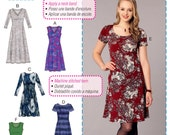 Learn to Sew a Dress Pattern, Stretch Knit Pullover Dress Pattern, McCall's Sewing Pattern 7432