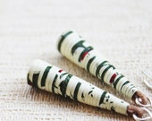 Garden Earrings - Paper bead earrings - Paper anniversary gift -  Beaded jewelry - Simple Earrings - Spring Jewelry - Boho jewelry