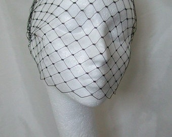 Merry Widow Birdcage Bandeau Wedding Bridal Veil Many Colours Available - Comb Attachment - Custom Made to Order