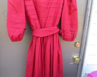 1980s SWEET talk New york Paris  lONDON  silk party  dress with belt sz 11-12