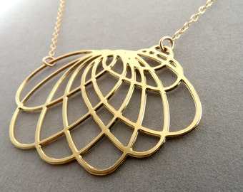 Spirograph necklace,spiro necklace, organic jewelry, pattern necklace