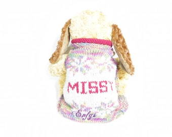 Personalized Pup Warmer Dog Sweater - All Sizes - Custom Colors