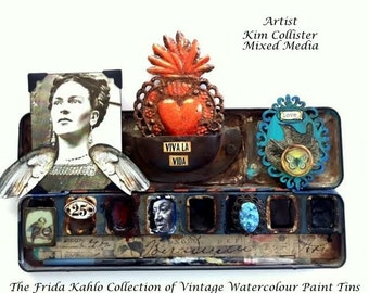 FRIDA KAHLO COLLECTION of Vintage Watercolour Paint Tins Limted Edition No. 1