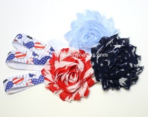 4th of July Mustaches Baby Headband Kit, Baby Shower Game, Headband Station, Headband Supplies