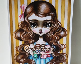 The Doll Collector 8x10 Art Print