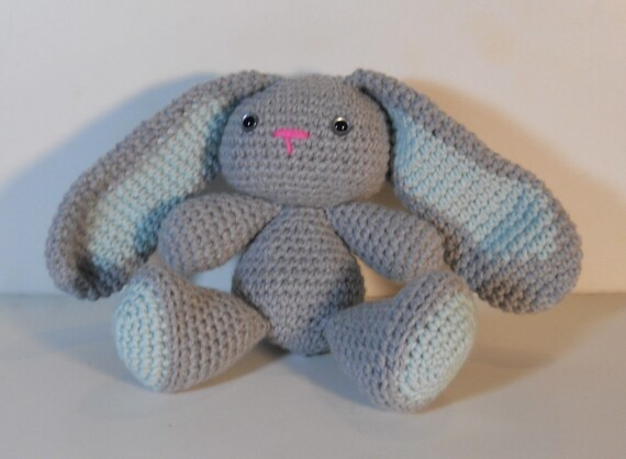 Amigurumi Stuffing : Crocheted Bunny rabbit stuffed amigurumi style by SmittysShop