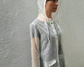 Sale Transparent Opaque Raincoat Multicolor Buttons (Ready to Ship)