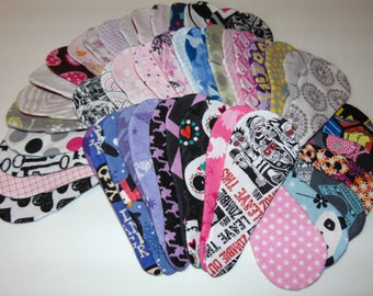 Thong  Panty Liner,Cotton, Set of 5, Mama Cloth, Choose Your Fabric,BEST PRICE! Lightweight, 4 or 6 layers, all 100% cotton flannel.