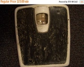 Valentines SALE Vintage Counselor Bathroom Scale, Black & White Marble, Shabby, Weighs Accurate