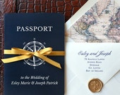Come Away With Me - Passport Wedding Invitation - SAMPLE ONLY (Price is not full order per unit price, see description)