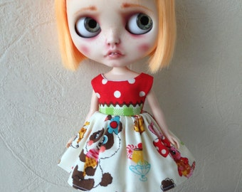 Japanese kawaii Animals  Blythe Party Dress