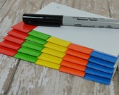 Blank PRIMARY color laminated 5 tab divider set for your index card binder or recipe box, you choose 3 x 5 or 4 x 6, with or without holes
