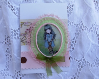 ANGIE, felt brooch done with love....