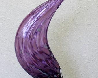 Hand Blown Glass Garden Art Outdoor Gourd Decor PURPLE 6704 Oneil