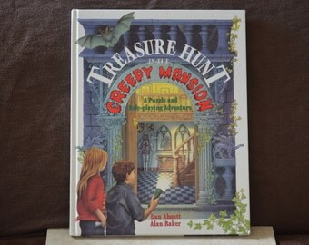 Halloween Book/Treasure Hunt in the Creepy Mansion A Puzzle and Role Playing Adventure Book by Abnett and Baker/ISBN 0517140268/1995