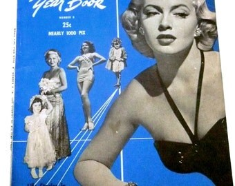 1949 Vintage Movie Life Magazine Yearbook Number 8 Lana Turner Cover - Shirley Temple - Almost 1000 photos - Vintage Movie Gossip