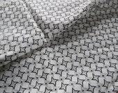 2 Yards Vintage Black Gray White Star Dress Fabric rayon print